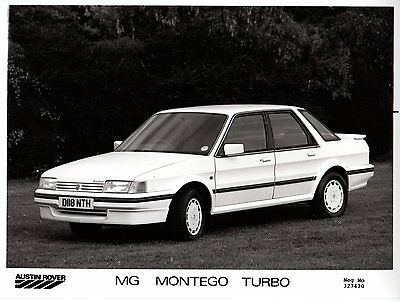 MG Montego Turbo 1986-87 Original UK Press Photograph Front 3/4 View