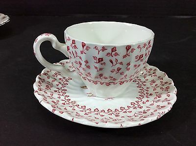 """Beautiful Vintage Johnson Brothers England """"Rose Bouquet"""" Cup & Saucer Set"""