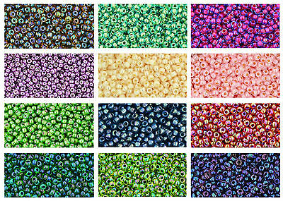 TOHO Colour Lined / Galv Japanese Seed Beads size 11/0, choose colour - 10 grams