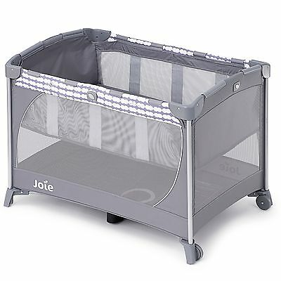 Joie Commuter Change Baby Travel Cot In Cloud Grey - From Birth To 15kg