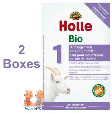 Holle Goat Milk Organic Formula Stage 1 400g 2 BOXES FREE SHIPPING 07/2020