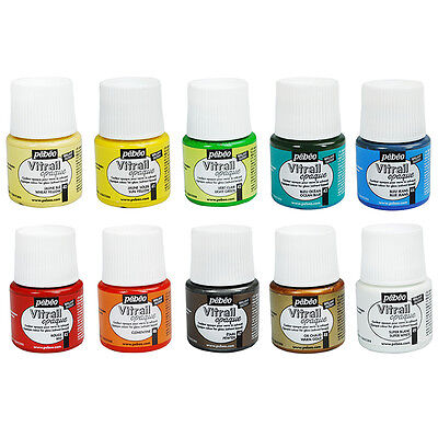 Pebeo Vitrail Stained Glass Effect Paint 45ml Bottle - All OPAQUE Opale Colours