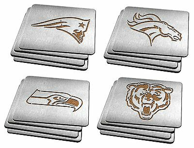 4 pcs Set NFL - Pick Your Team -  Heavy Duty Stainless steel Coaster