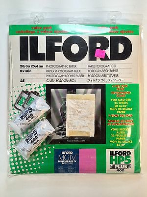 "Ilford HP5 Plus Photographic Paper 8x10"" 25ct (Paper Only, Film Is Expired)"