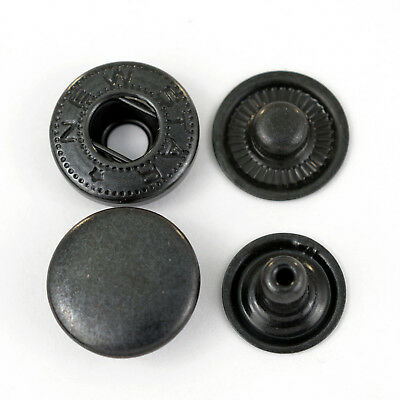 360 S-Spring Push buttons ALFA / 15mm black for Textile, Clothing, Spindle press