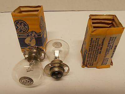 "NOS 2 (two) GE General Electric Automotive ""Double Contact"" Bulbs GE2331 6-8V"