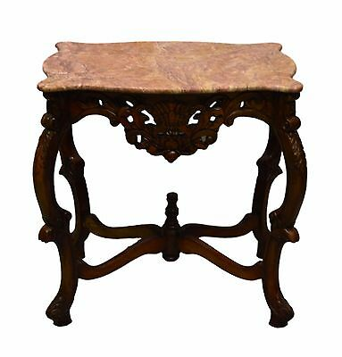 Beautiful Carved  Parlor Marble Turtle Top Center Table