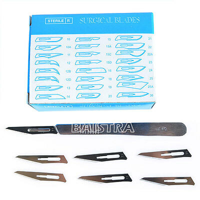 3# SCALPEL HANDLE +100 Pcs Surgical BLADES Knife Blades 11# carbon steel