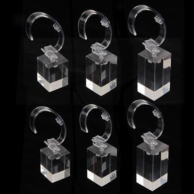 6pcs Clear Acrylic Detachable Bracelet Watch Jewelry Display Holder Gift