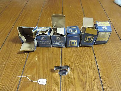 Lot of 6 Square D Class 9001 Type T7 Gloved Hand / Selector Switch Knobs -New OS