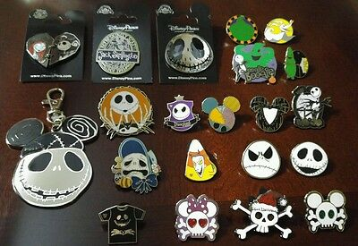 Disney Nightmare Before Christmas Jack Skellington Holiday pins lot collection