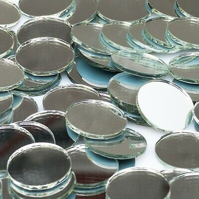 40mm ROUND GLASS MIRROR TILES - 36 pieces
