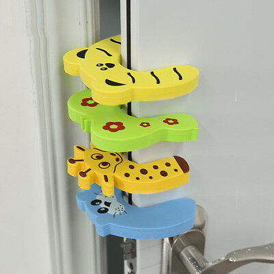4Pcs Kid Finger Protector Door Stopper Lock Jammers Pinch Guard Baby Safety