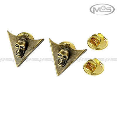 Buy 2 Get 1 Free Pirates Of Caribbean Skull Bronze Pin Brooch Down Collar Tips