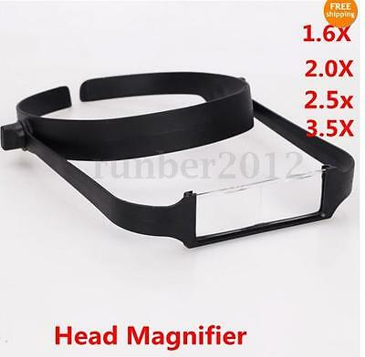 1.6x 2.0x 2.5x 3.5x Head Headband Replaceable Lens Loupe Magnifier Magnifying