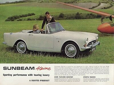 Sunbeam Alpine Series IV 1600 1964-65 UK Market Leaflet Sales Brochure Tourer GT