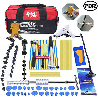 PDR Dent Lifter Tools Kit Paintless Hail Repair Slide Hammer Puller Tab Glue Gun