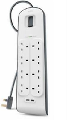 Belkin BSV804AF2M Extension lead / Surge Protector - Type G (BS 1363), BS1363A,