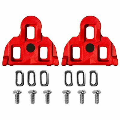 Positz Shimano SPD-SL Road Cleats Red 4.5° Float for Clipless Pedals
