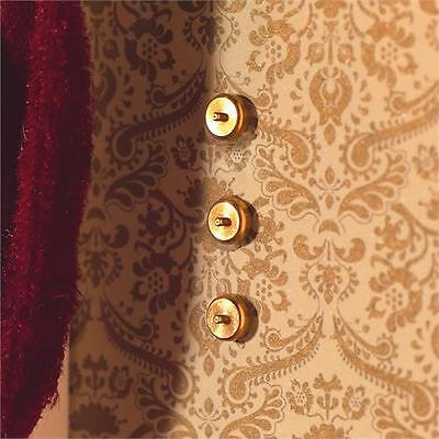 Dolls House Emporium 12th Scale Brass Light Switches x 10 (3530)