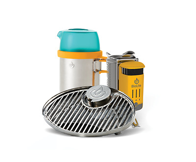 BioLite CampStove Bundle Portable Grill and KettlePot Cooking Stove NEW
