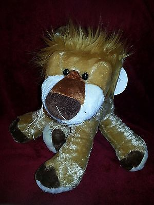 "Fine Toys Lion Plush 14"" Stuffed Plush Animal NEW"