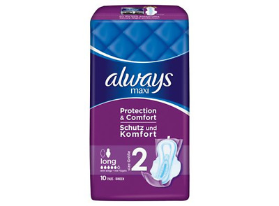 Always Maxi Long With Wings 10 Pads