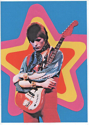 DAVID BOWIE POSTER.  ZIGGY STARDUST. Glam rock.