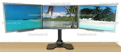 "EZM Deluxe Triple Monitor Mount Stand Free Standing - up to 3 28"" (002-0020)"