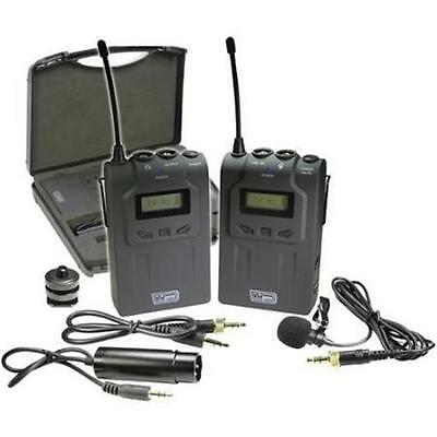 Vidpro XM-W4 Professional UHF Wireless Microphone System with Lavalier&Case-NEW