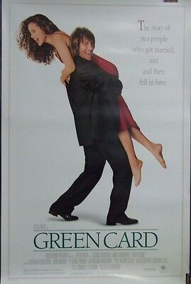 Green Card Original 1990 Double Sided Movie Poster Gerard Depardieu