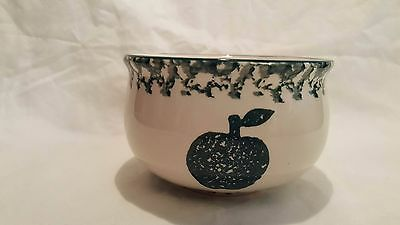 Tienshan Folk Craft APPLE Green Sponge Sugar Bowl 2.75 Inches