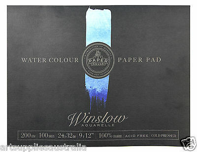 "Winslow Water Colour Pad 100sheets 200gsm 24x32cm (9x12"")"