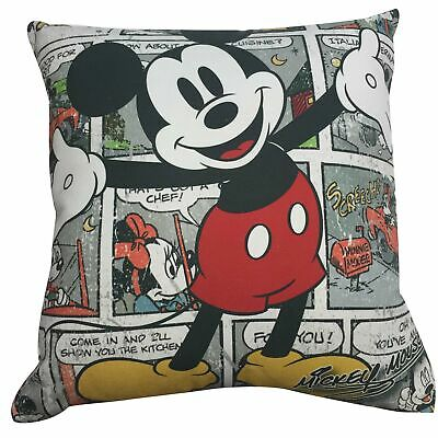 DISNEY LICENSED RETRO MICKEY MOUSE CARTOON KIDS PILLOW CUSHION 45x45cm **NEW**