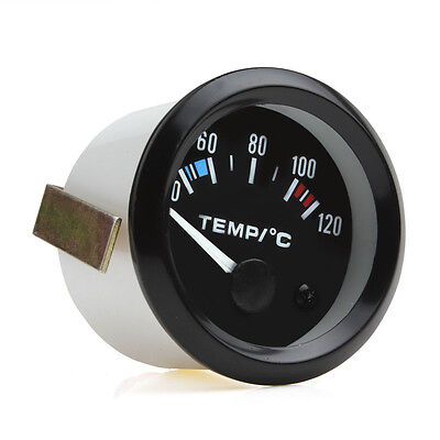 2 Inch Universal Car Pointer Water Temperature Gauge 40 - 120 Celsius White LED