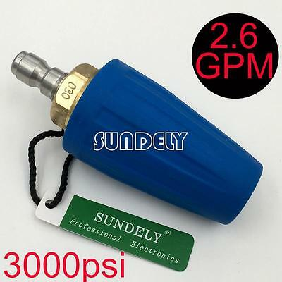 Secuda High Pressure Washer Cleaner Spray Turbo Nozzle Tip 3000PSI Blue 2.6GPM