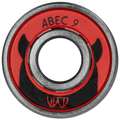 8x Wicked WCD ABEC 9 Kugellager / Bearings 608! made by Powerslide  NEU