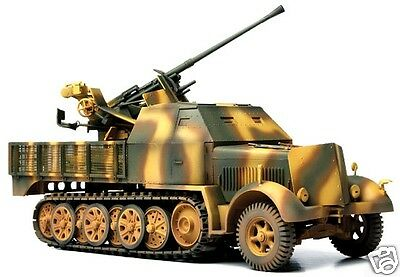 85101 Forces Of Valor Unimax Diecast 1:72 German SD.KFZ 7/2 37mm AA Gun 1943 New