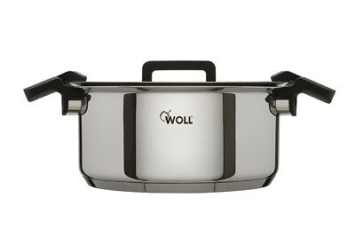 Woll 24cm Stainless Steel Casserole Dish with Multi Position Glass Lid