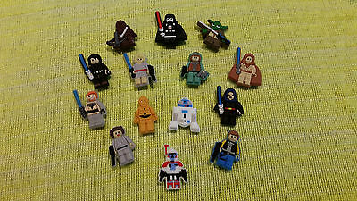 LEGO STAR WARS shoe charms/cake toppers!! Lot of 14!! FAST USA SHIPPING!