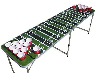 Green Football field beer pong table beirut WITH pre-drilled cup HOLES