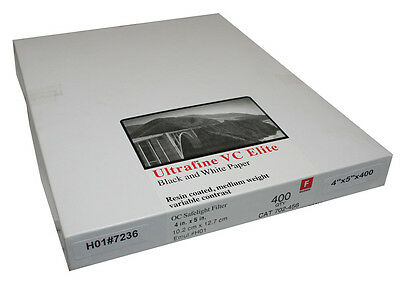 Ultrafine VC ELITE Glossy Variable Contrast RC Paper 4 x 5 / 400 sheets