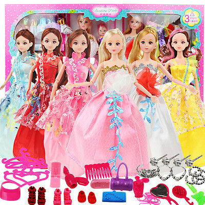 Accessory Comb Crown Jewelry Earrings New Shoes Necklace For Barbie Dolls