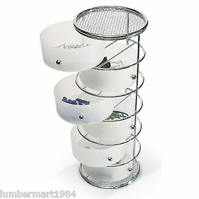 Taymor 02-DD1098 6 DRAWER COUNTERTOP STORAGE TOWER WALL OR COUNTER MOUNTED WHITE
