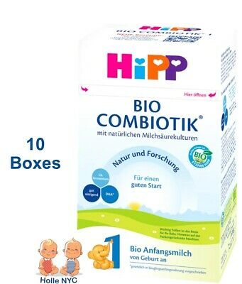 HiPP Stage 1 Bio Combiotic Infant Formula 10 Boxes 600g Free Shipping