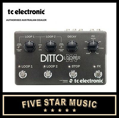 Tc Electronic Ditto X4 Guitar Looper Pedal 2 Track Loop Guitar Pedal New