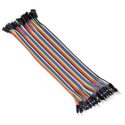 40pcs 20CM Male to Female Dupont Prototype Jumper Wire Breadboard Wires Ribbon