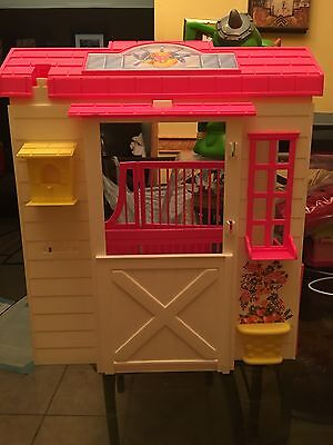 Barbie Stable Horse Vintage Barn 1993 Played With Missing Parts Or For Parts