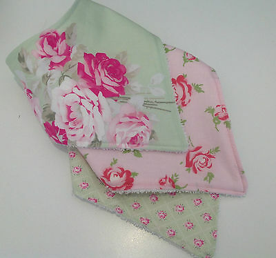 Baby girls bandana dribble bib in Tanya Whelan collection by Tractors & Fairies