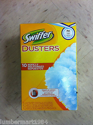 Swiffer DISPOSABLE DUSTER REFILL 10/PACK 41767 dusters cleaning supplies fluffy